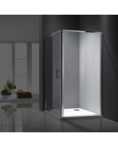 Rosery 800mm Shower Side Panel with Easy Clean Glass