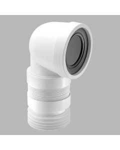 "4""/110mm 90° Flexible WC Connector"