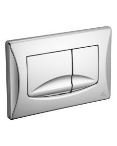 Dual flush plate chrome plated
