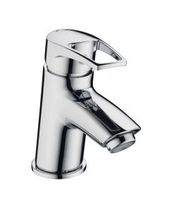 Smile Basin Mixer with Clicker Waste Chrome