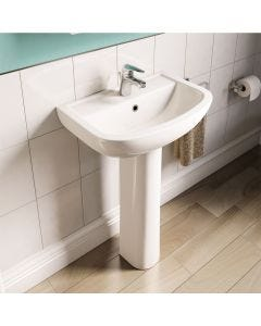 Atlas Geo 2 Taphole 55cm Basin and Pedestal Set