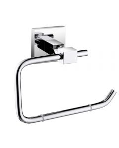 Square Toilet Roll Holder Brass Chrome Plated