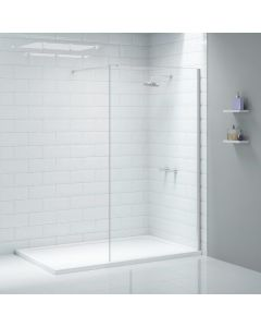 Merlyn Ionic Wetroom Shower Wall 1400mm Chrome Shower Enclosure