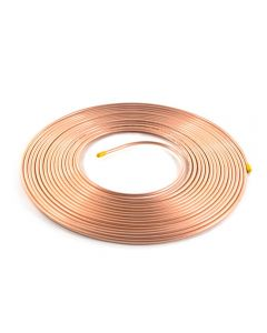 "15m Coil ½"" Plain Degreased Copper Pipe"