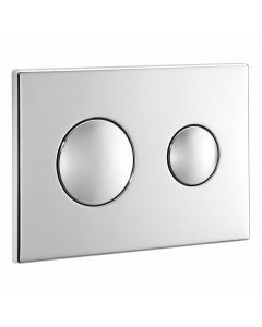 Conceala 2 Flush Plate Chrome Dual Flush With Logo