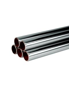 3m Length 15mm Chrome Plated Copper Pipe