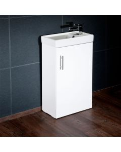 Annagh 400mm 1 Door Cloakroom Vanity Base Unit (White)