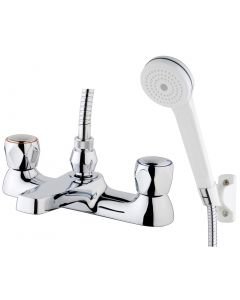 Contract Deck Mounted Bath Shower Mixer (0.2 bar, WRAS approved)