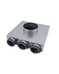 Heat Recover PVCU 125mm (63mm) 2 Port Ceiling Manifold