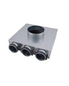 Heat Recover PVCU 125mm (63mm) Single Port Ceiling Manifold