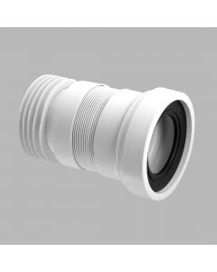"""McAlpine 4""""/110mm Straight Flexible WC Connector (Short Length)"""
