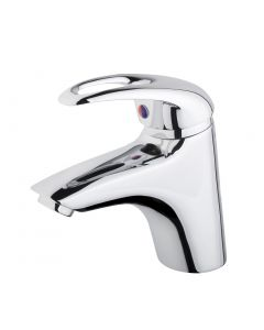 Lusk Eco Basin Mixer with Push Button Waste (0.3 bar, WRAS approved)